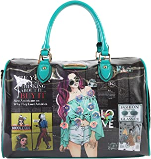 Dual Top Handle Boston Bag For Women With Adjustable/Detachable Shoulder Strap