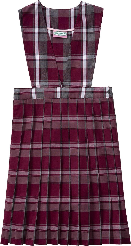 Classroom School Uniform V-Front Girls Plus Dress 5PC4623A, 8h, Red