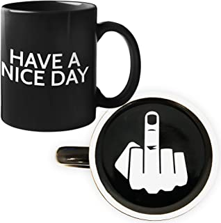 Funny Coffee Mug by Find Funny Gift Ideas   Unique Novelty Coffee Mugs for Men   Funny Coffee Mugs for Women   Have A Nice Day Middle Finger Coffee Mug   Great Coffee Gift