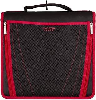 Five Star 2 Inch Zipper Binder, Expanding Pocket, Durable, Red (73299)