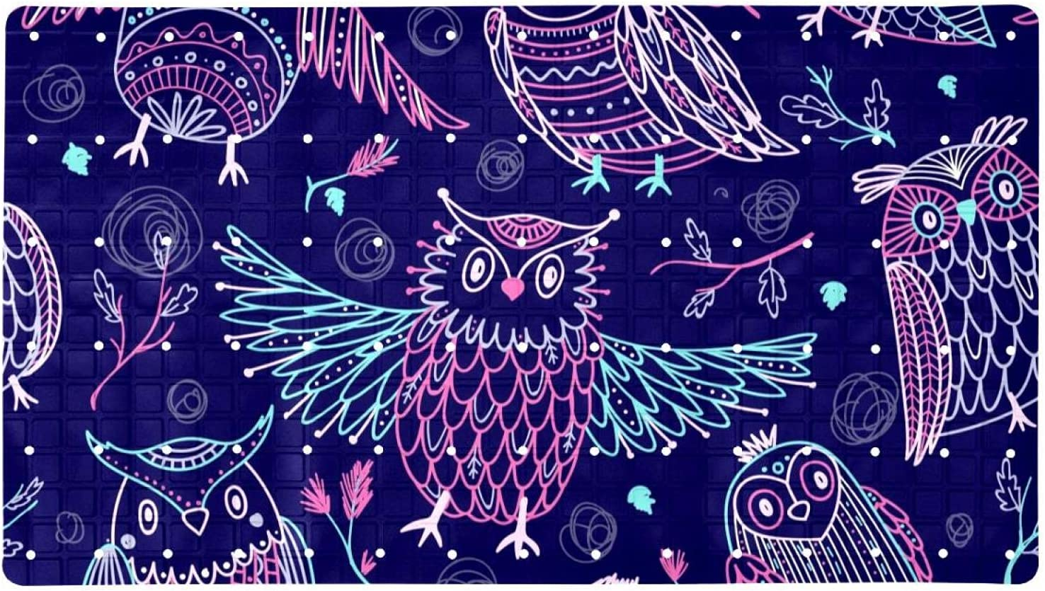 Bath Tub Shower Mat 15.7x27.9 inches Beauty products Owls Patt Floral Cute Tribe Time sale