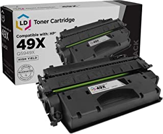 LD Compatible Toner Cartridge Replacement for HP 49X Q5949X High Yield (Black)