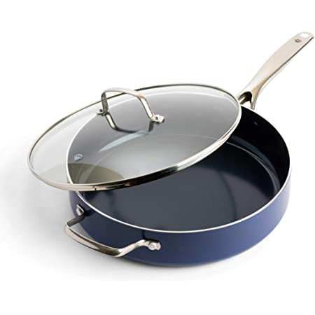 5//7//11 PIECE CERAMIC FRYING PAN SAUCEPAN SET POTS PANS NON STICK PYREX GLASS LID