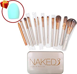 Naked 3 Makeup Cosmetic Brush Set 12 pcs *New for Christmas 2015* by NKD