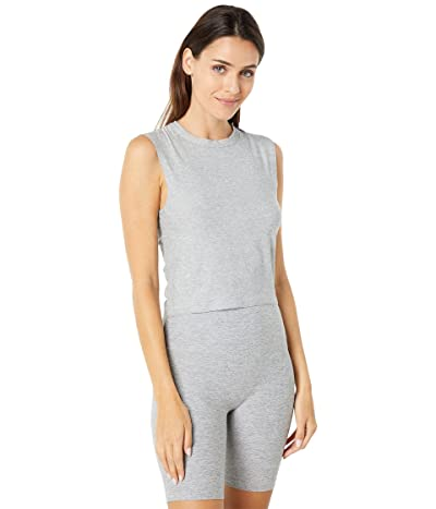 Beyond Yoga Featherweight Spacedye Ruched Down Cropped Tank