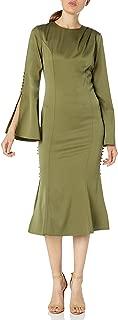 Women's Noble Long Sleeve Midi Dress