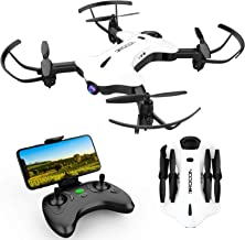 DROCON Ninja Drone for Kids & Beginners FPV RC Drone with 720P HD Wi-Fi Camera,Quadcopter Drone with Altitude Hold, Headless Mode, Foldable Arms, One Key take Off/Landing, White