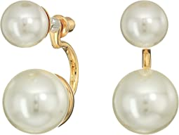 Kenneth Jay Lane - Gold with Small Pearl Top/Large Pearl Drop Post Earrings