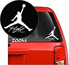 NBA Jordan 23 Flight Jumpman Logo AIR Huge - Vinyl Decal Sticker for Laptop Iphone Car Windows (5.5