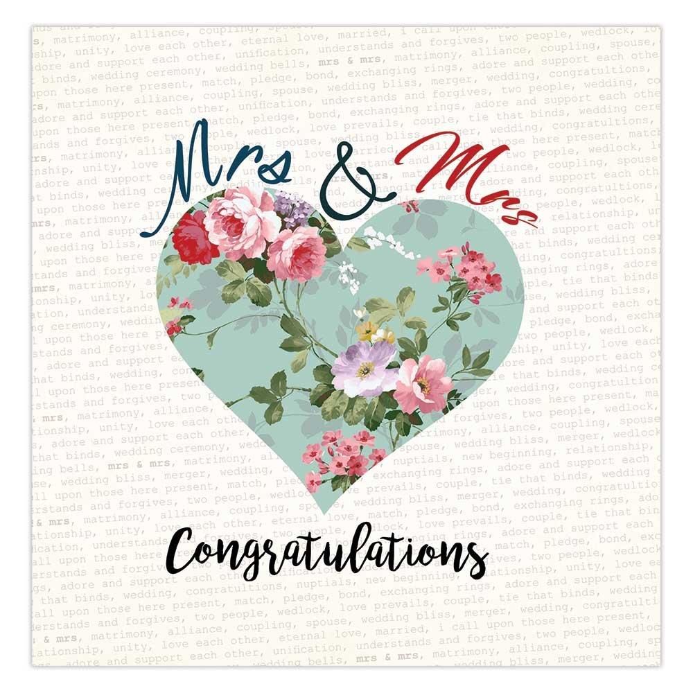 Mrs y señora tarjeta del día de la boda, boda Gay, felicitaciones ...