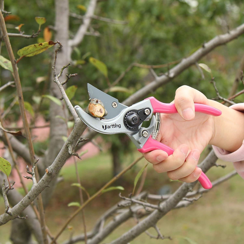YARTTING Garden Tool Set, 4 Piece Floral Print Gardening Hand Tools Kit, Gardening Gifts for Women with Hand Rake, Shovel, Transplanter, Purning Shears (Red) : Garden & Outdoor