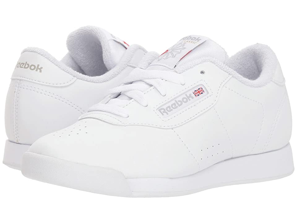 Reebok Kids Princess (Little Kid) (White/Grey) Girls Shoes