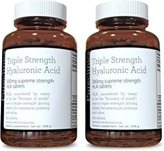 Sponsored Ad - Hyaluronic Acid 300mg x 360 Tablets (2 Bottles Each with 180 Tablets - 6 Months Supply). Triple Strength Hy...
