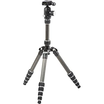 Amazonベーシック カメラ三脚 130cm 5段 自由雲台 カーボン 収納ケース付き