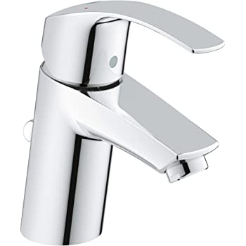 Grohe 3264200A Eurosmart New Single-Handle Single-Hole Bathroom Faucet, 1.2 GPM, Starlight Chrome
