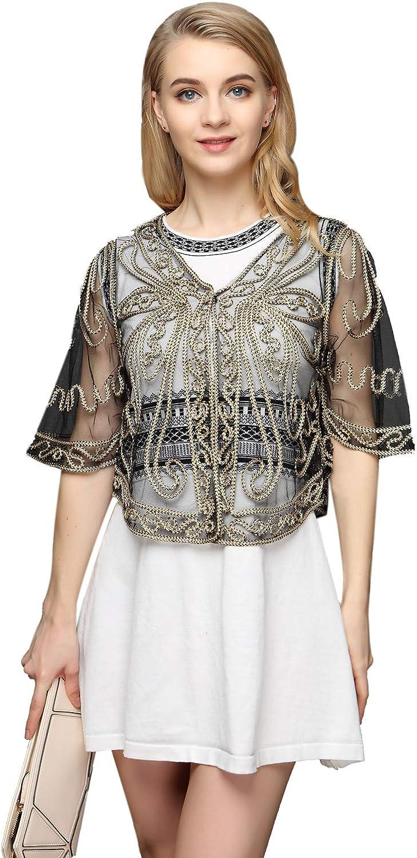 Women's Short Omaha Mall Flare Sleeve 2021 model Lace Bolero Cardigan Shrug Crochet
