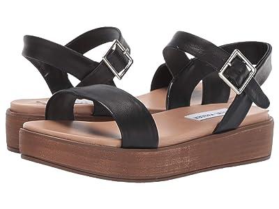 Steve Madden Aida-1 Platform Sandal (Black Leather) Women