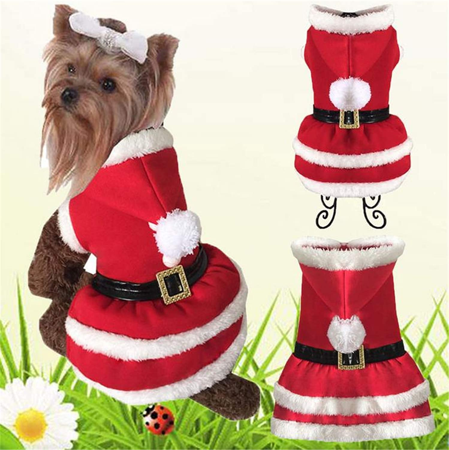 69c84f05c5067 Christmas Dog Clothes for Dogs Autumn and Winter Small Autumn and ...