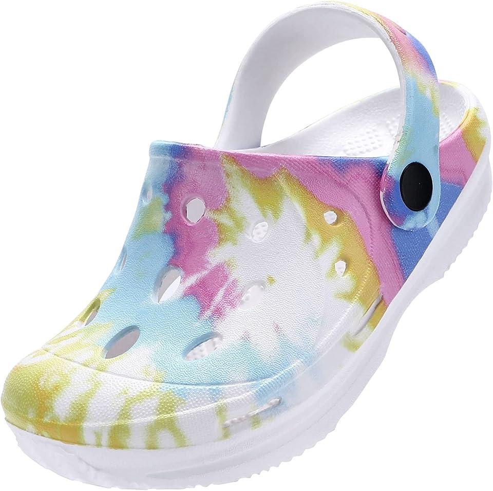 STQ Kids Classic Garden Clogs | Slip On Water Sandals Shoes for Girls Boys | Toddler, Little Kid, Big Kid