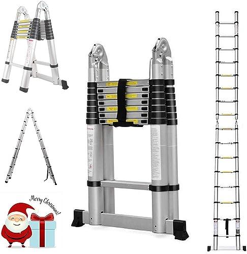 2021 16.5Ft Extension Folding Telescopic Aluminium outlet sale A Frame Ladder Steps 330lb Capactiy outlet online sale EN131 Certificated outlet online sale