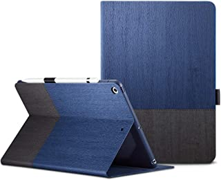 ESR iPad 9.7 2017 ケース レザー 合皮 スリムフィット シンプル 手帳型 スエード柔らかな内側 スタンド機能 オートスリープ 傷つけ防止 二つ折 iPad 9.7インチ 2017年版対応(モデル番号A1822、A1823、A1893、A1954)(灰紺色)