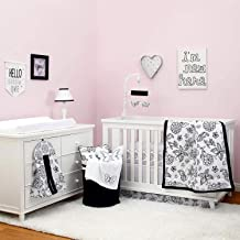 Best hot pink black and white baby bedding Reviews