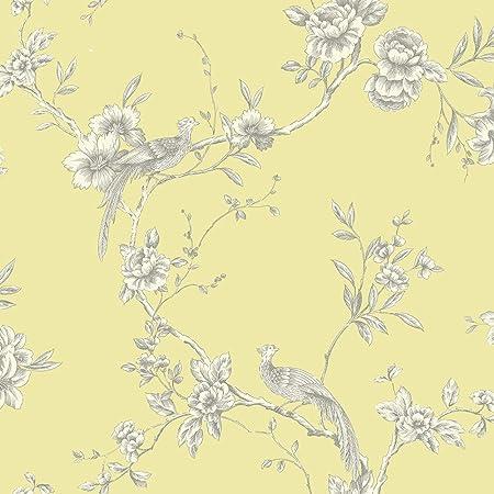 Arthouse 422804 Chinoise Yellow Wallpaper, Gelb-422804, 10.05 m x 0.53 m