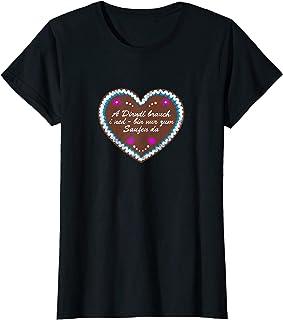 Trachtenshirts Damen & Dirndl Ersatz Damen Dirndl brauch i ned - Trachten Lebkuchenherz Dirndl Ersatz T-Shirt