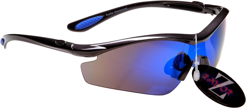 Rayzor Professional Lightweight Gunmetal Grey UV400 Sports Wrap Golf Sunglass.