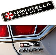YSpring Resident Evil Car Badge Decal 2.95in Dia Umbrella Corporation 3D Aluminum Alloy Circle Car Motorcycle Emblem Sticker(Style A-1 pcs)