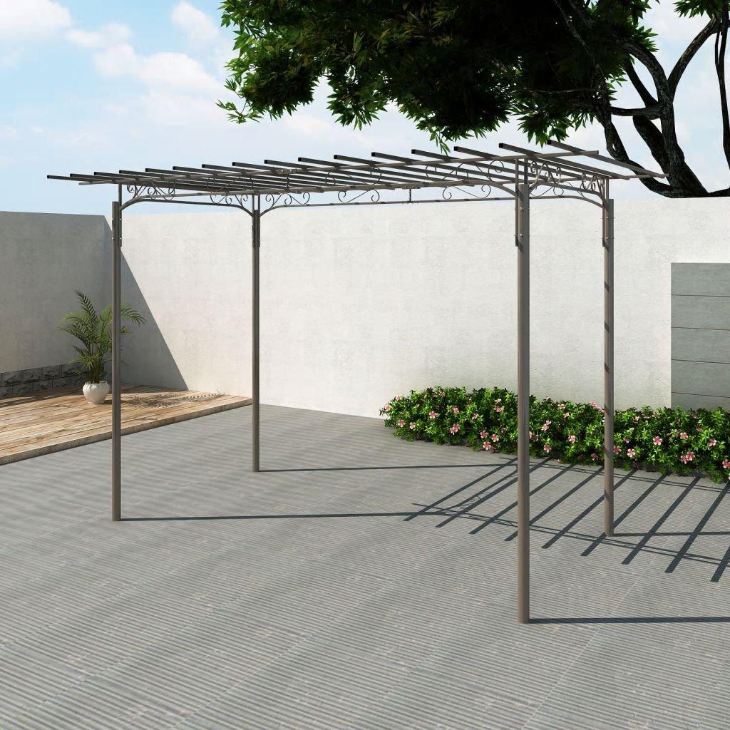 Shengfeng Arco Pérgola de Jardín para Rosas de Acero Decoración giardino. Enrejado de Jardín Enrejado de Exterior Carpa Carpa pergolati para Exterior Enrejado terraza: Amazon.es: Jardín