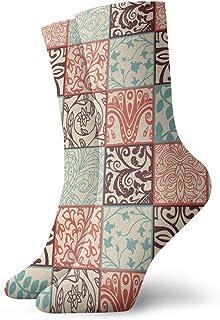 sky feng, Calcetines de anime brillantes florales suaves y transpirables de secado rápido calcetines deportivos unisex de la tripulación de 30 cm