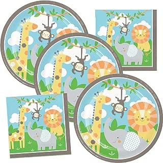 Jungle Animals Birthday Party Supplies Wild Safari Theme Plate and Napkin Set