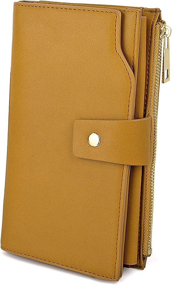 Uto portafoglio da donna porta carte di credito pochette con protezione rfid porta cellulari in ecopelle 18000459-19eu