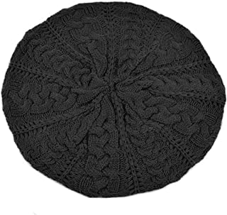BG Soft Knit Beanie for Women Solid Color Knitted Crochet Beret Beanie Hat One Size Slouchy