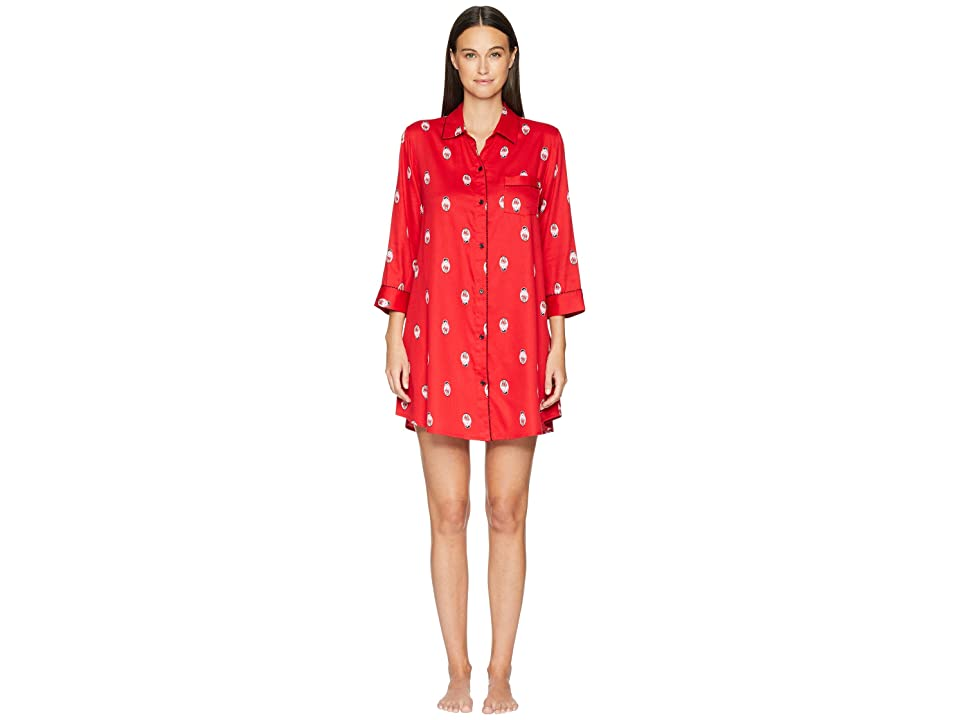 Kate Spade New York Sateen Dolls Sleepshirt (Dolls) Women