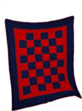 Baby Doll Bedding Patchwork Perfection Crib and Toddler Comforter, Navy/Red