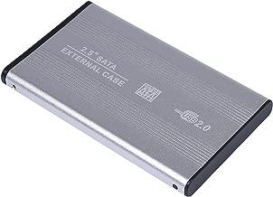 USB 2.0 External 2.5-inch SATA Aluminum HDD Enclosure Case for Laptop (Silver)