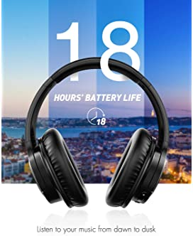 Mpow H7 Bluetooth Headphones Over Ear, Comfortable Wireless Headphones, Rechargeable HiFi Stereo Headset, w/Wired Mod...