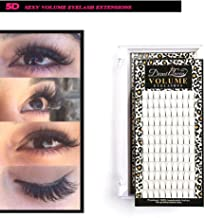 Demi Queen 5D Prefanned Volume Eyelashes Extension Handmade Rapid Cluster Lashes 0.07mm Make Up Daily (C Curl, 15mm)