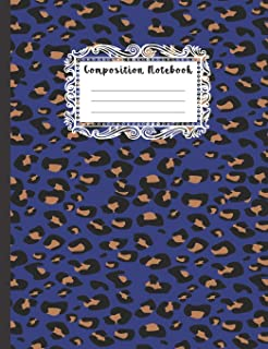 Composition Notebook: Kids In The Classroom Empty Page Leopard Theme Writing Journal, Cute Wide Ruled Blank Lined School S...