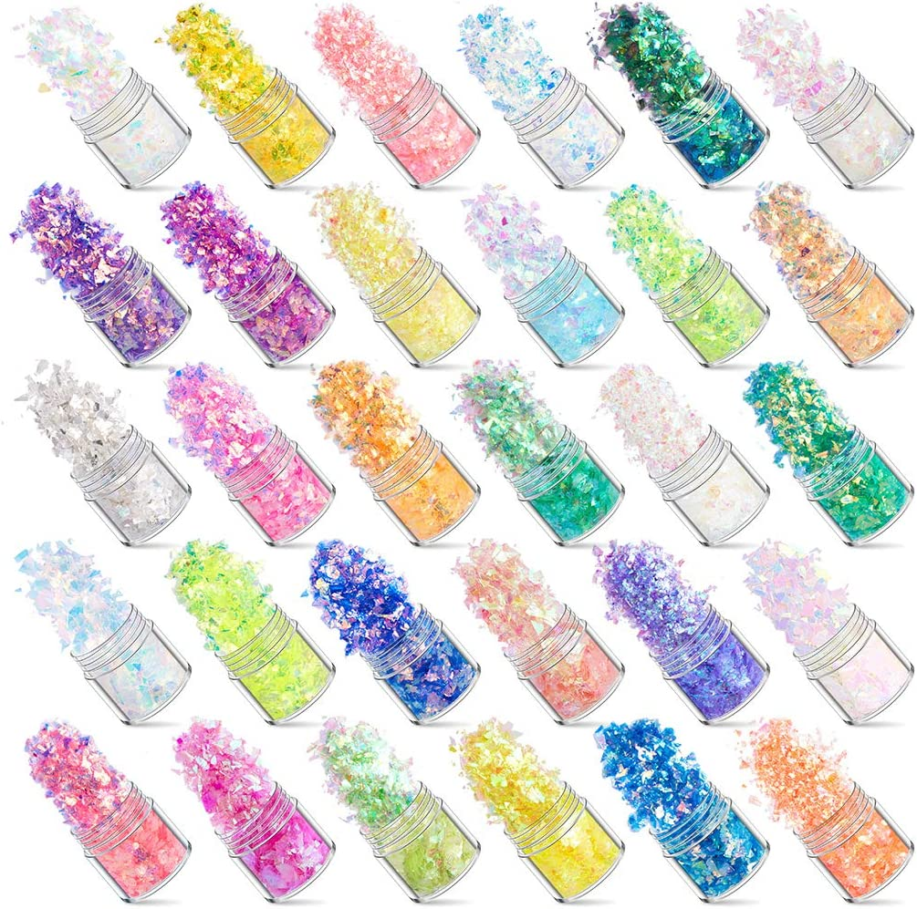 Sale item 30 Colors Manicure Animer and price revision Shell Cellophane Aurora Candy Papers Colorful