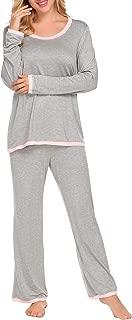 Women's Long Sleeve Sleepwear Two Piece Pajamas Set S-XXL