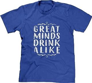 Blittzen Mens T-Shirt Great Minds Drink Alike