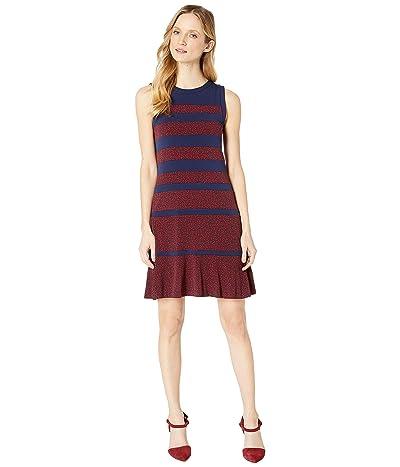 MICHAEL Michael Kors Paisley Paneled Sleeveless Dress (True Navy/Scarlet) Women