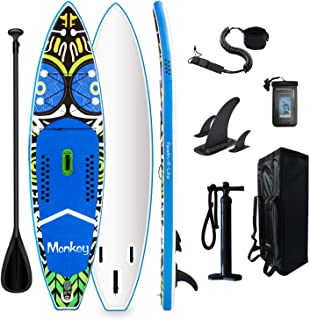 Tuxedo Sailor Inflatable Stand Up Paddle Board Surfboard Ultra-Light (20.9lbs) with Adj Paddle, ISUP Backpack, Pump, Phone...