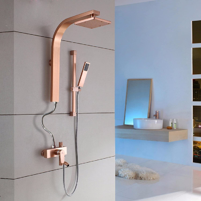 YFF@ILU Farbe dusche Anzüge, Einstellung des schwarzen Goldes raum Aluminium Persnlichkeit kreative Kpfe Dusche, Dusche, k