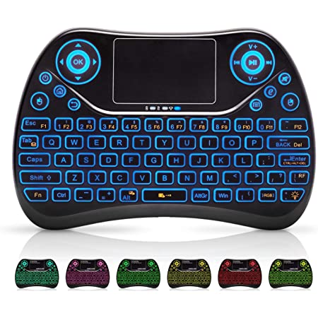 Handheld 2.4G Mini Wireless Keyboard with Mouse Touchpad For Android TVBox