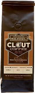 Clout Coffee Bourbon Barrel Aged Coffee, Dark Roast, Ground, One Pound Bag