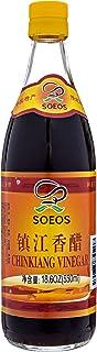 Soeos Chinkiang Vinegar, Chinese Black Vinegar, Xiangcu Vinegar, 18.6 fl oz (550ml)